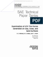 Examination of ATV Tire Forces Generated on Clay, Grass and Sand Surfaces