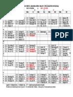 Orar Modificat Martie-Aprilie Si Mai 2015