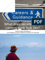 What Does Excellence in Careers Work Look Like