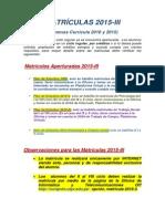 MATRICULAS 2015-3