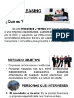 Leasing financiero.