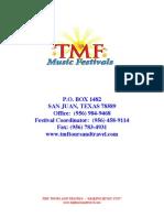 2015 TMF Day Festival Registration Form