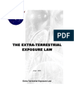 Extra-Terrestrial Exposure Law
