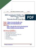 269816417 RBI Assistants 2015 GK Capsule Www Newstechcafe Com
