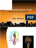 How Entrepreneurs Craft(HBR)(Lalit Nainani)