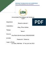Tarea 1 de Derecho Laboral I