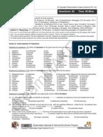 (Www.entrance Exam.net) Infosys Mock 2