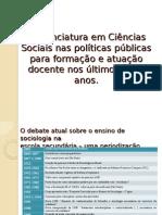 02 - A Licenciatura Em Ciências Sociais Nas Políticas Públicas