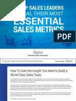 14 lideres de ventas revelan KPI's