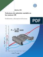 212 Colectores de Admision Variable en Motores VR