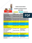 Onslow County Schools 2015-2016 Academic Enrichment Events