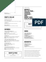 18th and Vine menus