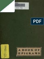 LYON A Book of Epigrams 1902