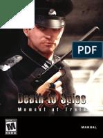 Manual de Juego Death to Spies