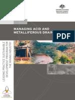 MANAGING ACID Mine Drainage