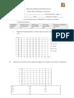 Evaluación Diferenciada Matemáticas Perimetro Plano Cartesiano