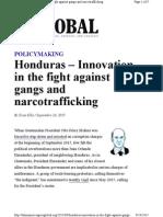 Honduras - Innvation in the Fight Against Narcotrafficking - R Evan Ellis