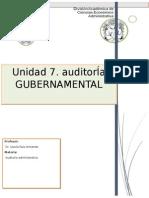 Unidad 7. Auditoria Gubernamental