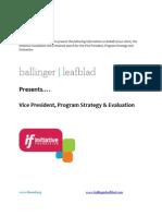 Position Profile-Initiative Foundation-VP Program Strategy & Evaluation