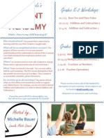 parent academy handout - math