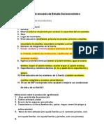 Formato de Encuesta de Estudio Socioeconómico de SAF