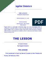The Lesson- Eugene Ionesco