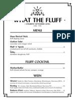 What the Fluff Menu