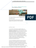 A Importância Do Engenheiro Ambiental - VAGAS Profissões