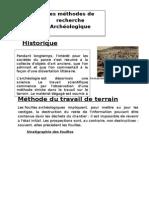 Les Methode de Recherches Archéologique
