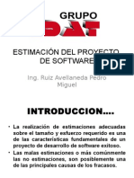 ESTIMACION DE PROYECTO DE SOFTWARE