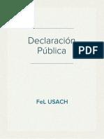 Declaración Pública FEL USACH