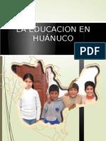 Eduacion en Huanuco