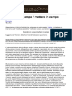 Accademia Della Crusca - Ltemgtscendere in Campoltemgt Ltemgtmettere in Campoltemgt - 2014-06-12