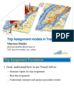 Trans Cad Assignment