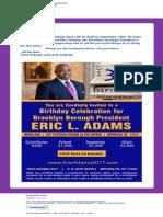 Adams Fundraiser Email