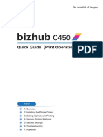 Bizhub c450 Quick Guide