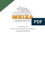 Mei-sga-po-01 Programa de Gestion Ambiental