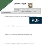 Vision Task Force Input Form