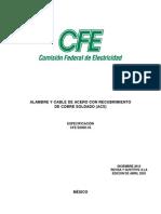 Norma Cfe e0000-33 Electrodos de Tierra Con Conductor Acs