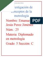 Investigación de Conceptos de La Metrología