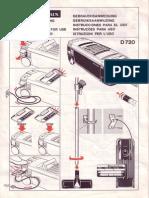 Manual de ELECTROLUX D 720
