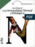 La Personalidad Normal y Patológica [Jean Bergeret]