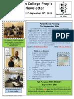 Newsletter - 9.21.2015