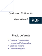 Costos en Edificación