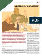 La hegemonía débil del Populismo