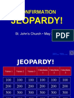 Confirmation Jeopardy