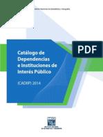 INEGI Catalogo de Dependencias