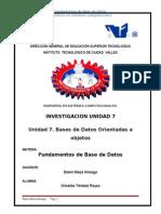 Unidad 7. Bases de Datos Orientadas a Objetos