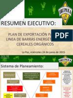Export Plan IRUPANA 2015
