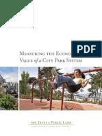 Ccpe-econvalueparks-rpt_evaluación de Beneficion de Parques Urbanos